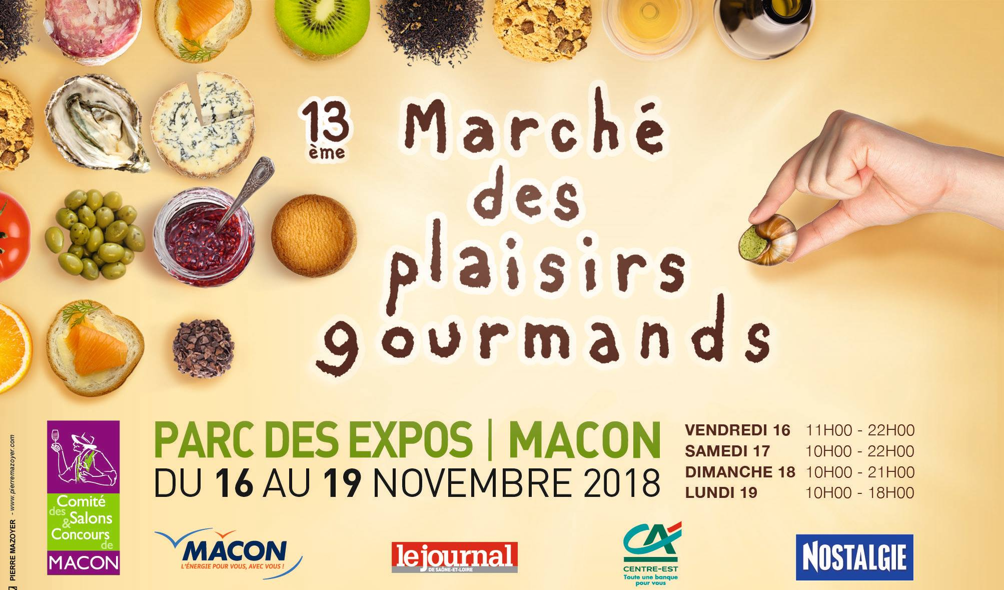 Marché des plaisirs gourmands de Mâcon 2018