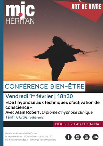 MJC Héritan : conférence hypnose
