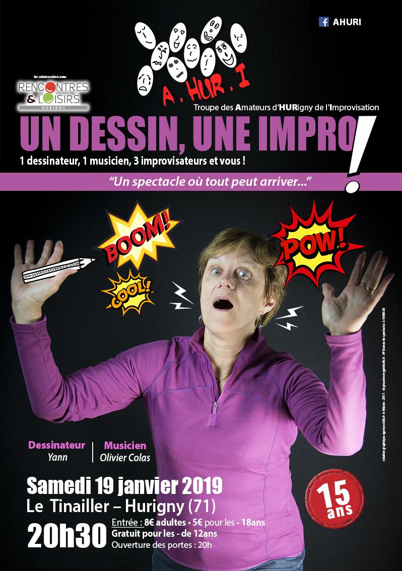 Théâtre d'improvisation : Un dessin, une improvisation - Samedi 19 janvier à Hurigny