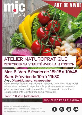 MJC Héritan : atelier Naturopratique