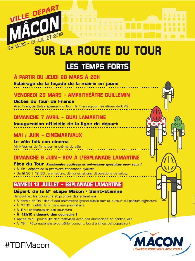 Le tour de France 2019 à Mâcon