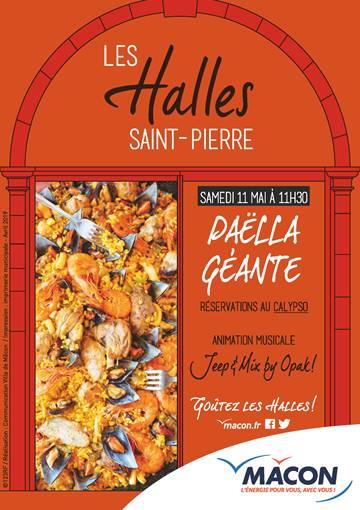 Les Halles Saint-Pierre : Paëlla géante