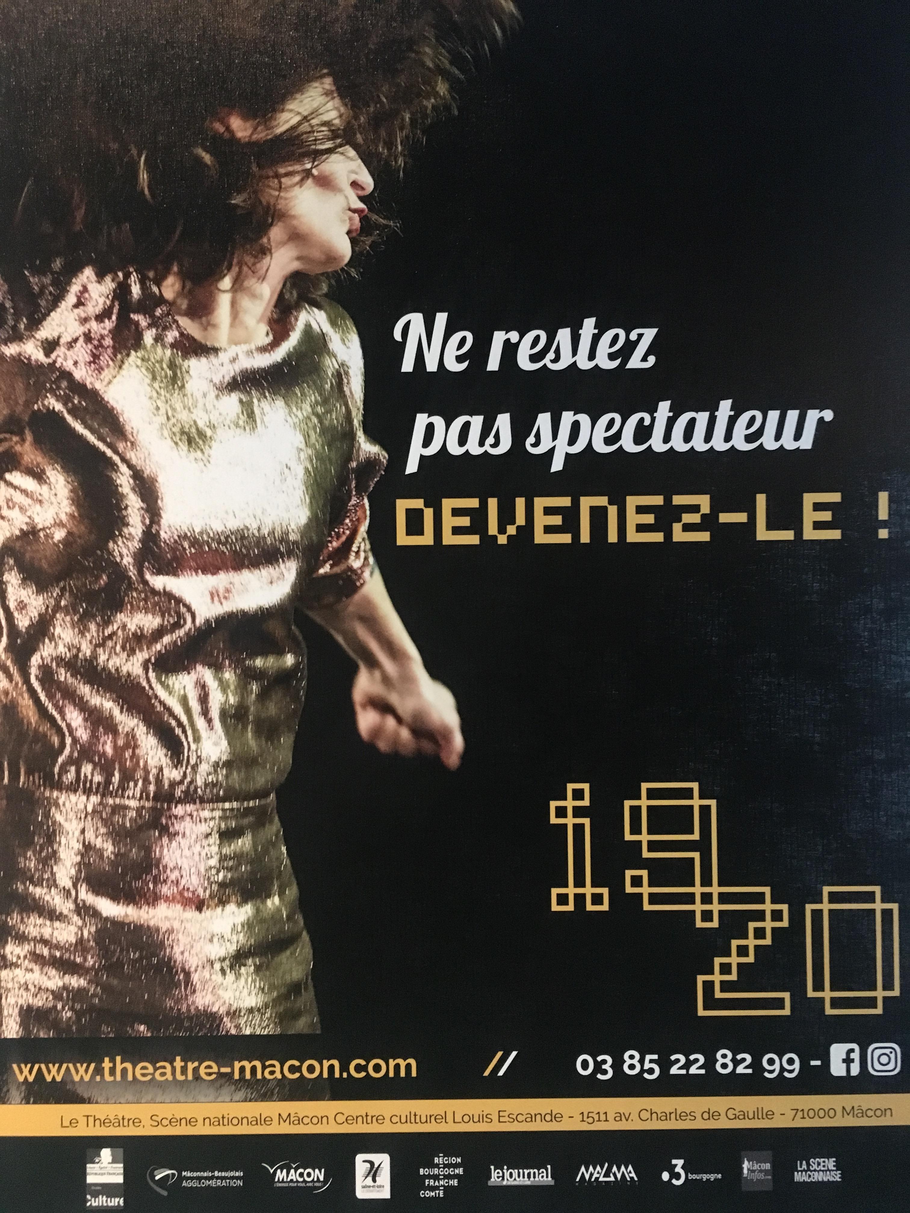 Théâtre de Mâcon : saison 2019/2020